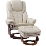 High Line Hana Swivel Recliner w/Ottoman - Ivory