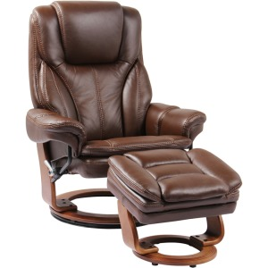 High Line Hana Swivel Recliner w/Ottoman - Chocolate Brown