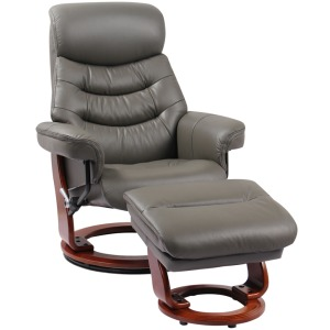 Happy Reclining Chair w/Footrest - Iron Grey