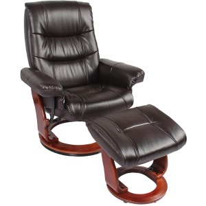 Rosa II Rocker Recliner w/Footrest - Java