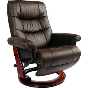Valencia Flip-Up Footrest Recliner - Dark Brown