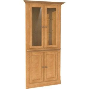 Casual Contemporary Corner cabinet