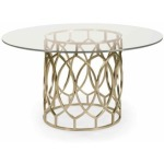 Salon Dining Table with Glass Top
