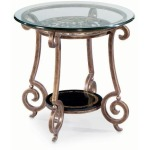 Zambrano Round End Table  Glass Top