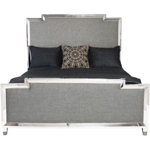 Metal Upholstered Panel Bed