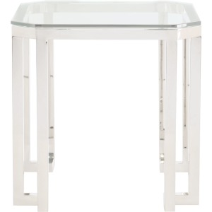 Square Metal End Table