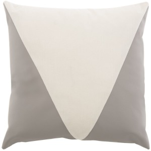 Square Knife Edge with Triangle Pillow