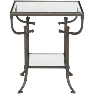 Hawthorne End Table w/Glass Top