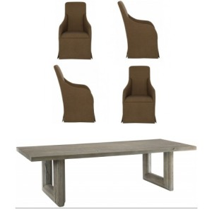 RECT.DINING TABLE & 4 CHAIRS
