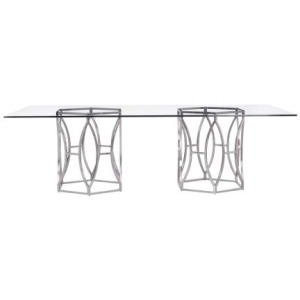 Argent Rectangular Dining Table (100