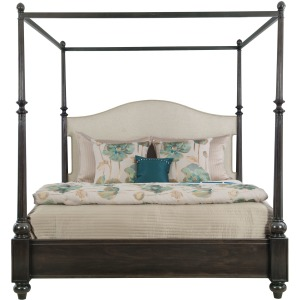 Sutton House Upholstered Canopy Bed
