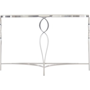 Metal Demilune Console Table