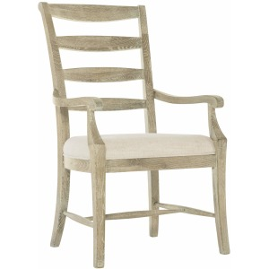 Rustic Patina Ladderback Arm Chair