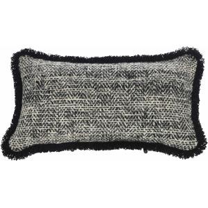 "Decorative Pillows Box Border Kidney w/Fringe (10"" x 22"")"