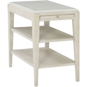 Domaine Blanc End Table base w/Stone Top