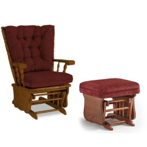 Jive Plus Glide Rocker & Ottoman - Golden Pecan