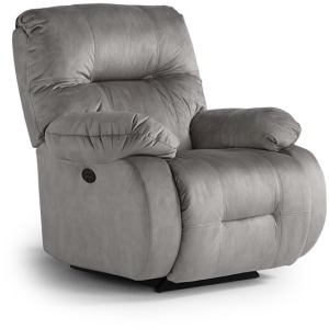 Brinley Power Swivel Glider Recliner W/ Power Tilt Headrest