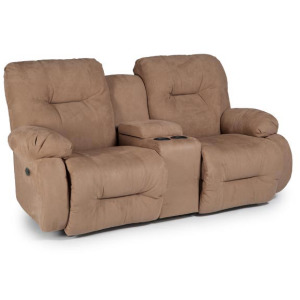 Brinley Power Rocking Console Loveseat W/ Power Tilt Headrest