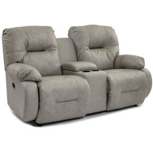 Brinley Power Space Saver Console Loveseat W/ Power Tilt Headrest