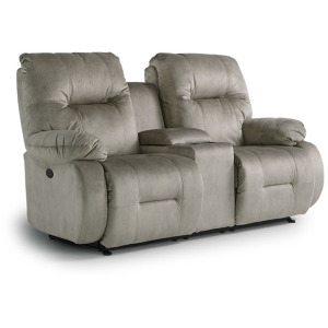 Brinley Power Space Saver Console Loveseat
