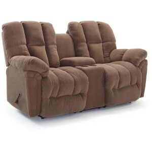 Lucas Power Rocking Console Loveseat W/ Power Tilt Headrest