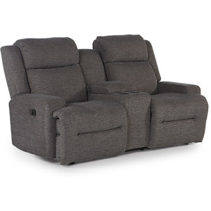 O'Neil Power Space Saver Console Loveseat W/ Power Tilt Headrest