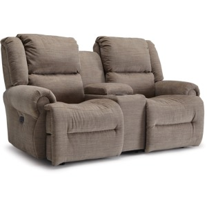 Genet Power Space Saver Console Loveseat W/ Power Tilt Headrest