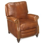 Colton High Leg Leather Lounger with Brass Nails