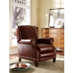 Glastonbury High Leg Leather Lounger with Brass Nails