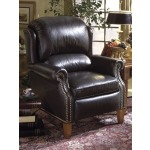 Helmsley Reclining Leather Wing Chair with Brass Nails