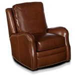 Karina Wall-Hugger Leather Recliner with Brass Nails