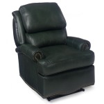 Laredo Wall-Hugger Leather Recliner with Brass Nails