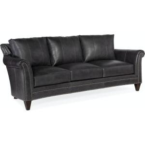 Richardson Stationary Leather Sofa 8-Way Tie