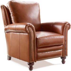 Richardson High Leg Leather Lounger