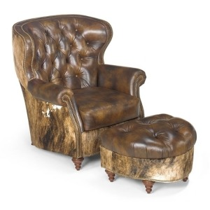 Bastien Stationary Leather Chair