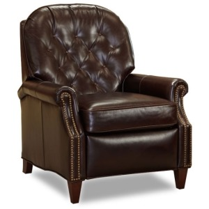 Brkeley Leather Lounger with Brass Nails
