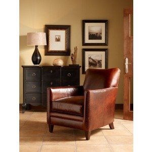 Cambridge Stationary Leather Chair