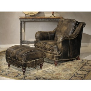 Carswell Stationary Leather Chair