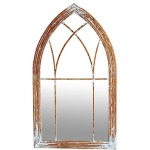 Cathedral Mirror - Antique White Cloud