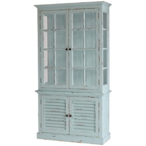 2 Door Cottage Cabinet With Glass