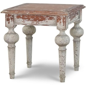 Colmar Side Table - Majestic Fog Weathered Distressed