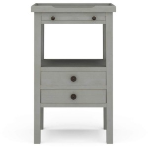 Eton 2 Drawer Side Table W/ Pull Out Shelf - Martinique