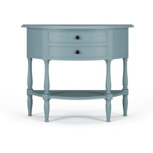 Demi Lune Table - Cadet Blue
