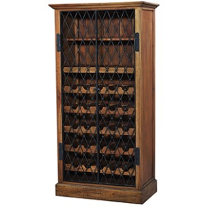 Wine Rack W/ Iron Door