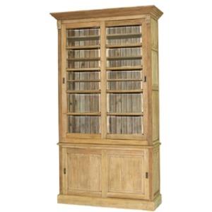 Hudson  Bookcase 1 Column W/ Sliding Doors