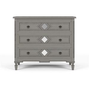 Robertson 3 Drawer Dresser W/ Mirror B - White Charlestone