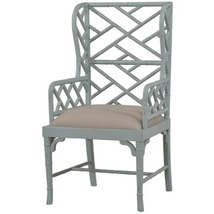 Martinique Bamboo Fauteuil - Weathered Ocean Blue