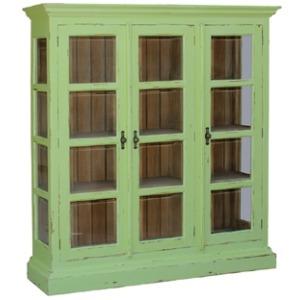 3 Door Glass Bookcase