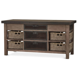 Harrington Kitchen Island W/ Baskets - LDT