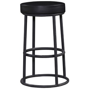 Indigo Counter Stool Leather Seat